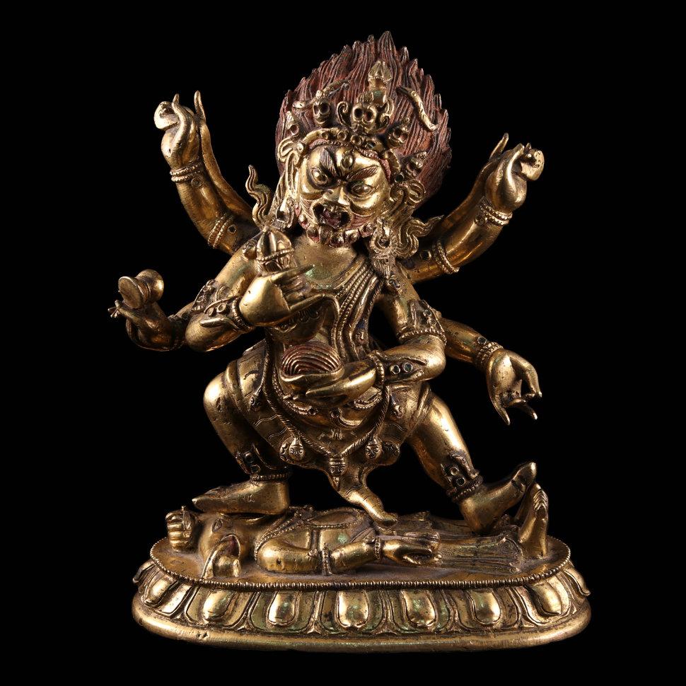 "Буддийская фигура ""Махакала шестирукий"""